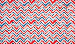 Jersey Cotton Fabric | Zig Zag White