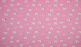 Jersey Cotton Fabric | Polar Bear Pink
