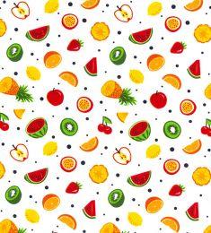 Cotton Print Fabric | Fruit Tasties White