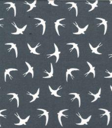 Cotton Print Fabric   Swallow Silver
