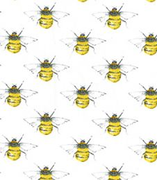 Cotton Print Fabric | Bumble Bee Ivory