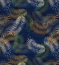 Cotton Print Fabric | Trailing Fern Royal