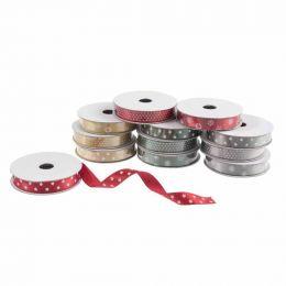Trimmings Bundle Satin Ribbon Festive Designs - 12 Roll Pack