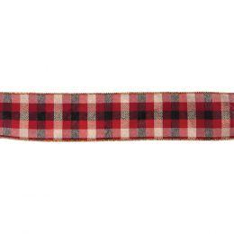 Premium Wire Edged Ribbon | Modern Tartan, 63mm