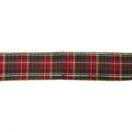 Premium Wire Edged Ribbon | Traditional Tartan, 63mm