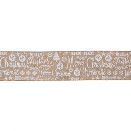 Premium Wire Edged Ribbon | Merry Christmas, 63mm