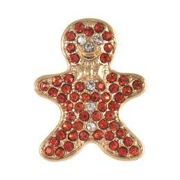 Diamante Buttons | Gingerbread Man