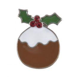 Diamante Buttons | Christmas Pud