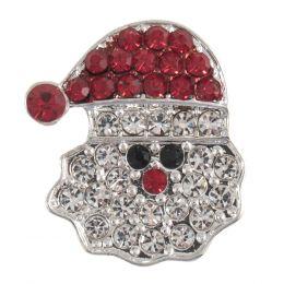Diamante Buttons   Santa