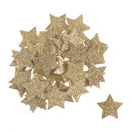 Christmas Embellishments | Glitter Foam Stars, 60pcs
