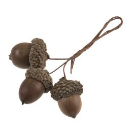 Christmas Embellishments   Natural Acorns, 9pcs