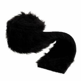 Faux Fur Rolls, 2m x 80mm | Black