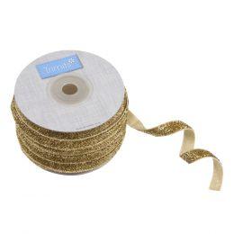 Glitter Velvet Ribbon, 10mm   Gold