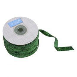 Glitter Velvet Ribbon, 10mm | Green