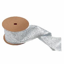 Glitter Ribbon, 63mm | Silver