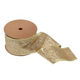 Glitter Ribbon, 63mm | Gold