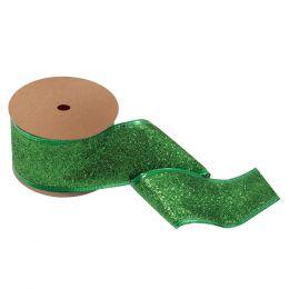 Glitter Ribbon, 63mm | Green
