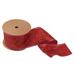Glitter Ribbon, 63mm | Red