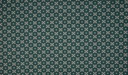 Jersey Cotton Fabric | Stylised Floral Green