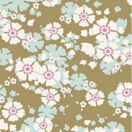 Woodland Tilda Fabric   Aster Olive
