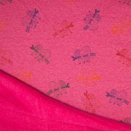 Luxury Sweatshirt Fabric   Sloth Pink