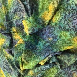 Batik Fabric Design | Floral Fantasy Green