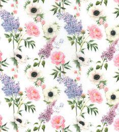 Cotton Print Fabric | Garden Light White