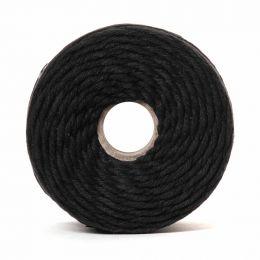 Cotton Macrame Cord 500g   Black