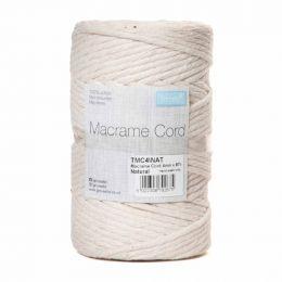 Natural Macrame Cord   4mm x 87m - 500g