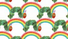 The Very Hungry Caterpillar Fabric   Rainbow