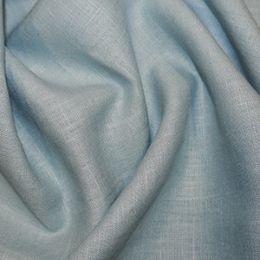Premium Enzyme Washed Linen Fabric   Aqua