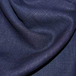 Premium Enzyme Washed Linen Fabric | Navy