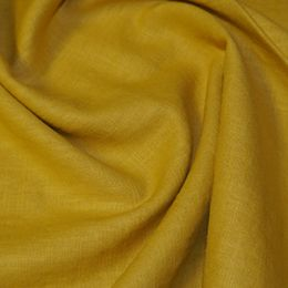 Premium Enzyme Washed Linen Fabric   Gold