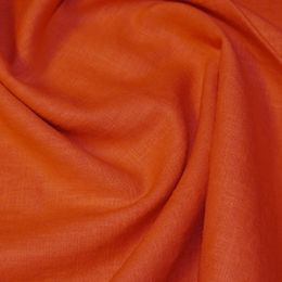 Premium Enzyme Washed Linen Fabric | Rust
