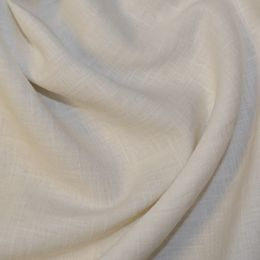 Premium Enzyme Washed Linen Fabric   Ivory