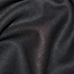 Premium Enzyme Washed Linen Fabric | Black