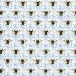 Honey Bee's Fabric   Blue