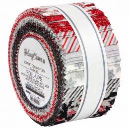 Robert Kaufman Fabric Roll Up   Holiday Charms Silver