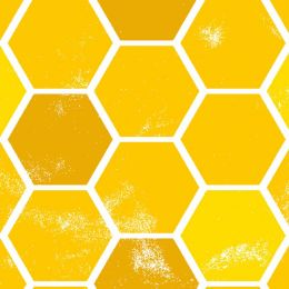 Feed The Bees Fabric | Honeycomb Gold
