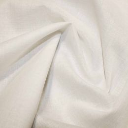 Organic Cotton Voile Fabric | Ivory
