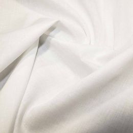 Organic Cotton Voile Fabric | White