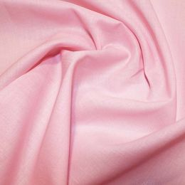 Organic Cotton Voile Fabric | Pink