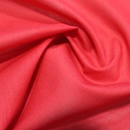 Organic Cotton Voile Fabric | Red