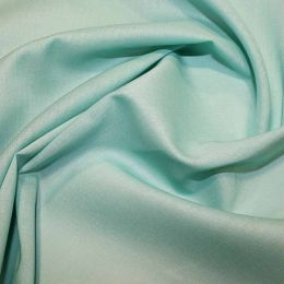Organic Cotton Voile Fabric   Turquoise
