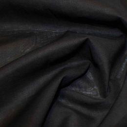 Organic Cotton Voile Fabric | Black