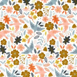 21W Babycord Fabric | Little Dove Ivory