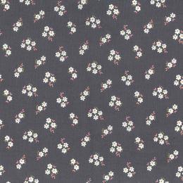 21W Babycord Fabric | Daisy Cluster Grey