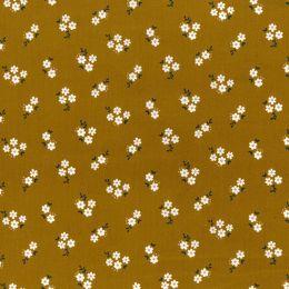 21W Babycord Fabric | Daisy Cluster Ochre