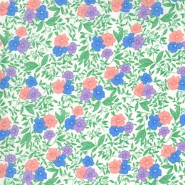 Moda 30s Playtime Fabric   Small Floral Eggshell