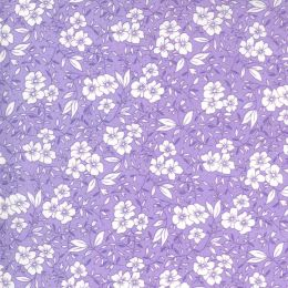 Moda 30s Playtime Fabric   Small Floral Lilac